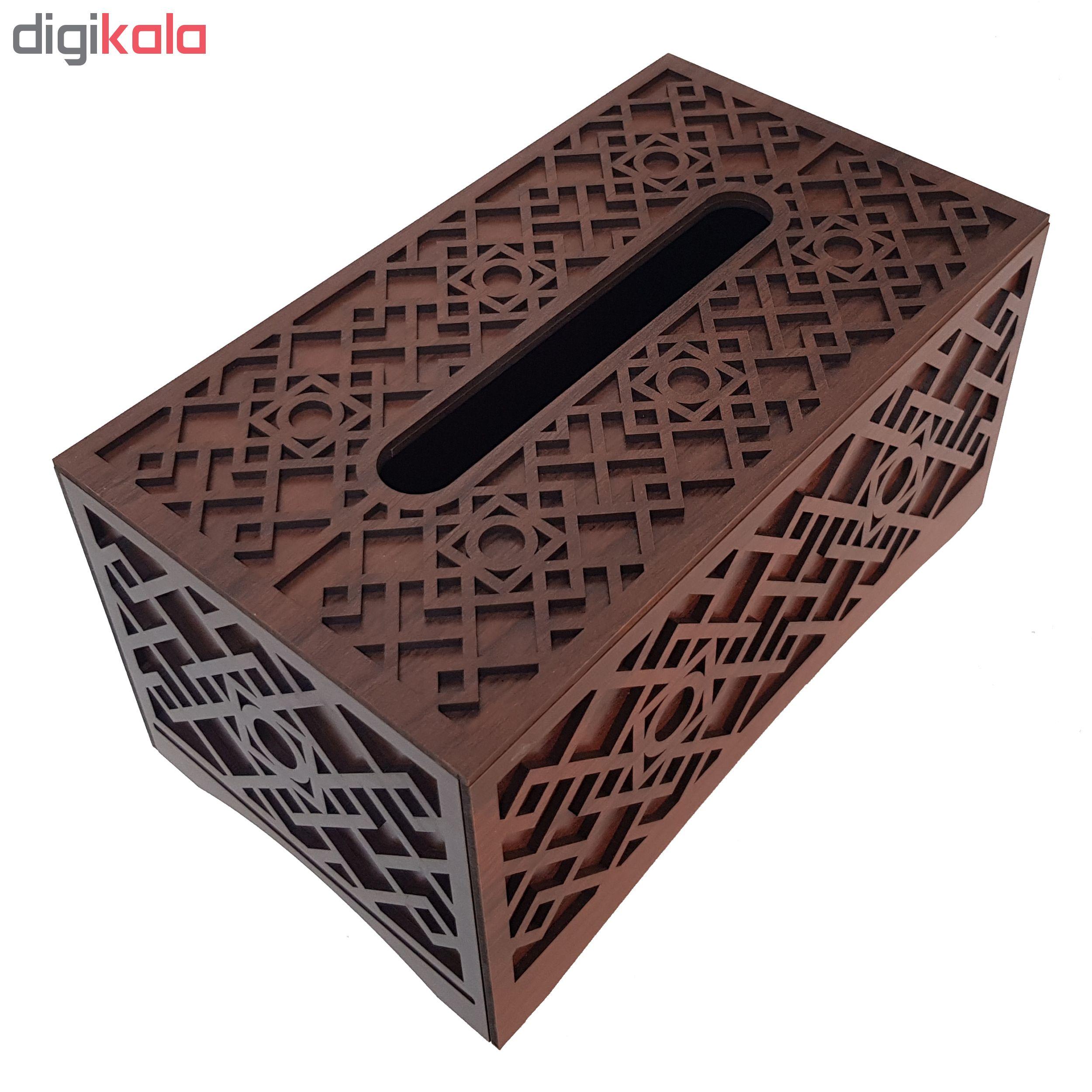 جعبه دستمال کاغذی  مدل شمسه