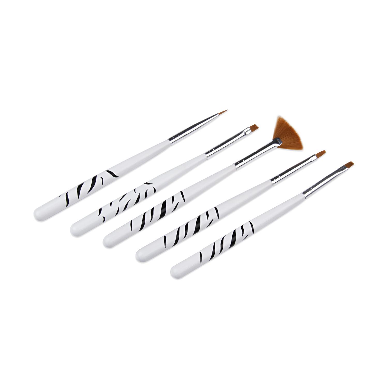 قلم موی طراحی ناخن کد NDB03 بسته 5 عددی
