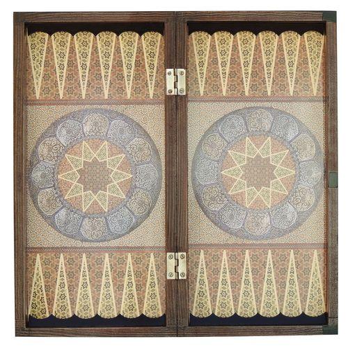 صفحه شطرنج و تخته نرد خاتم کاری مدل فیونا کد 12