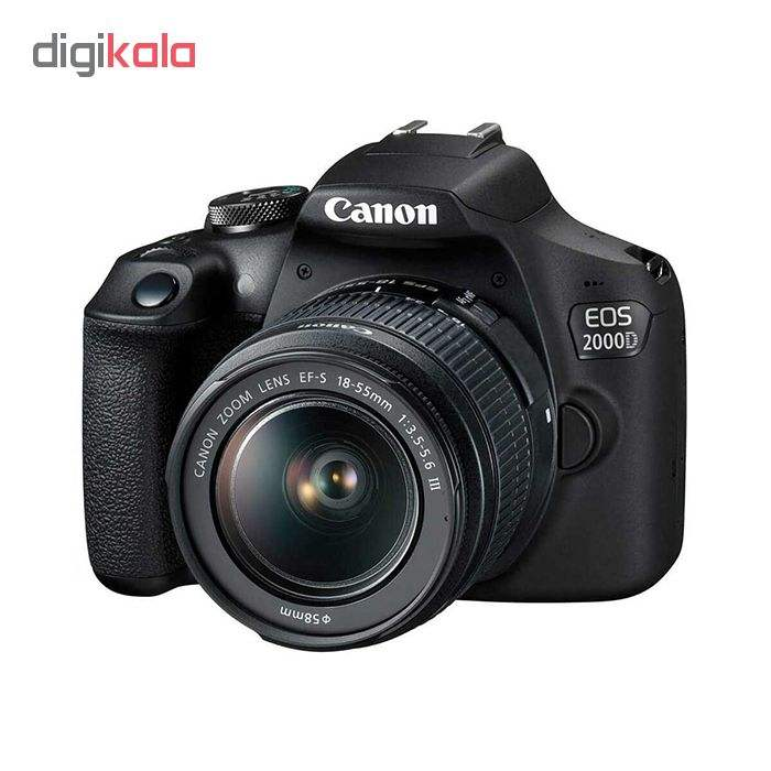 دوربین دیجیتال کانن مدل EOS 2000D به همراه لنز 18-55 میلی متر DC III main 1 1