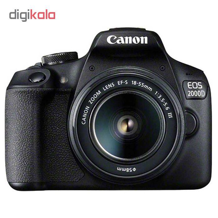 دوربین دیجیتال کانن مدل EOS 2000D به همراه لنز 18-55 میلی متر DC III main 1 2