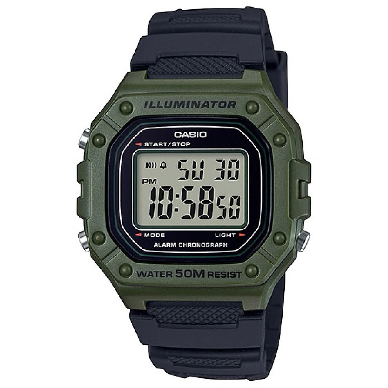 ساعت مچی دیجیتال کاسیو کد W-218H-3AVDF