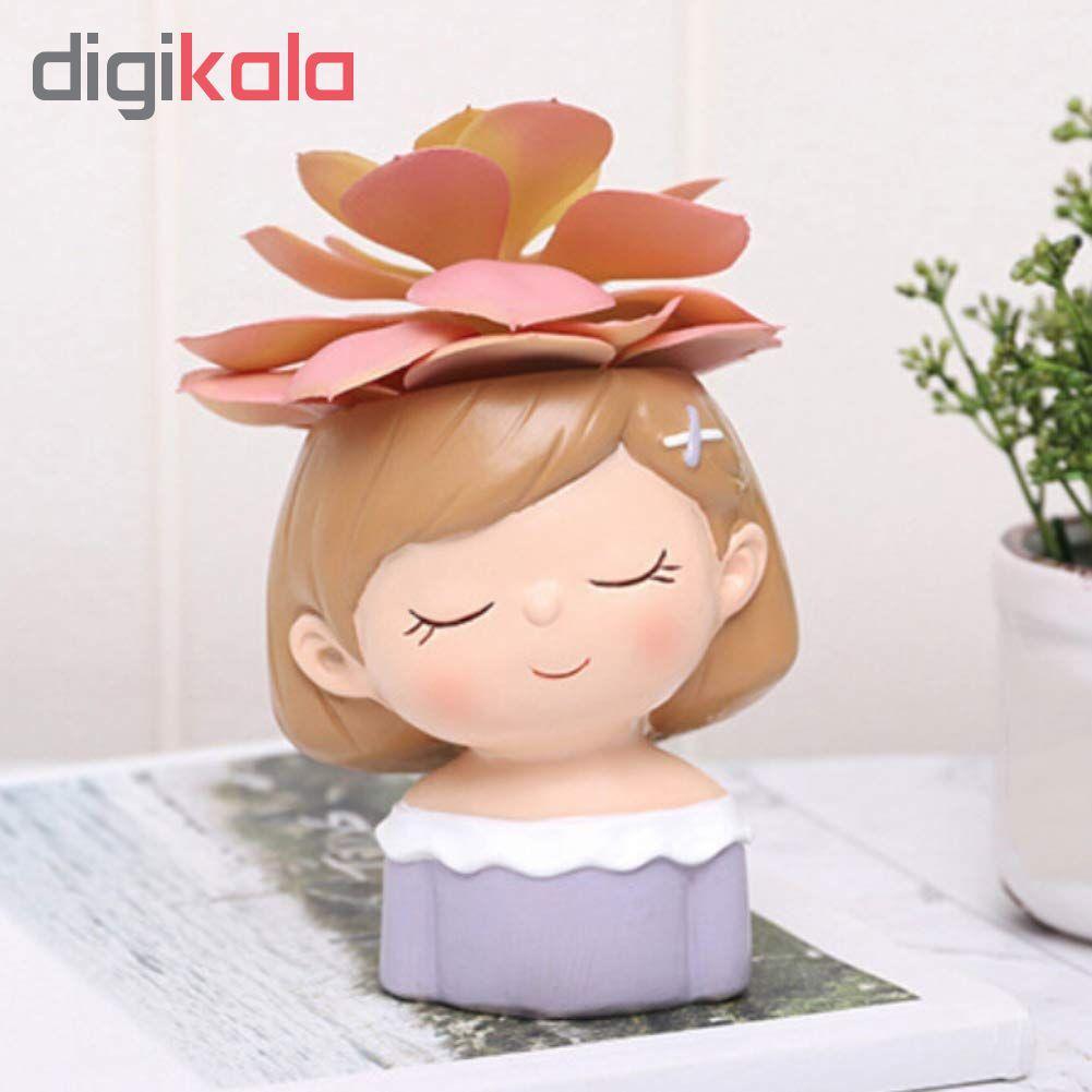 گلدان طرح دختر مهربان مدل GK01 main 1 2
