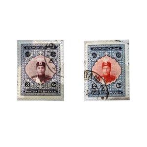 تمبر یادگاری سری قاجار مدل احمدی بزرگ کد 2P مجموعه 2 عددی