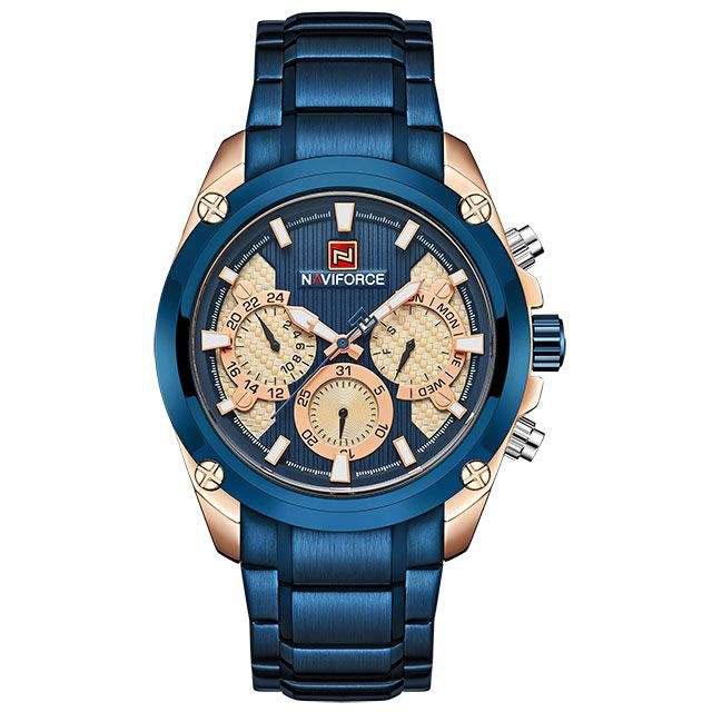 قیمت و خرید                      ساعت مچی عقربه ای مردانه نیوی فورس مدل NF9113M - AB-ROZ