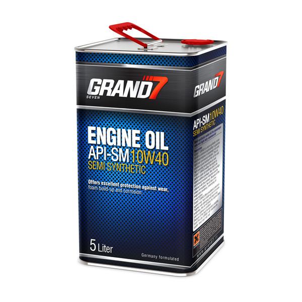 روغن موتور خودرو گرند سون مدل 10w40 SM حجم 5000 میلی لیتر