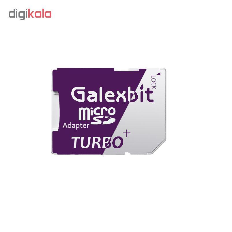 کارت حافظه microSDHC گلکسبیت مدل Turbo+ کلاس 10 استاندارد UHS-I U1 سرعت 80MBps ظرفیت 16 گیگابایت به همراه آداپتور SD