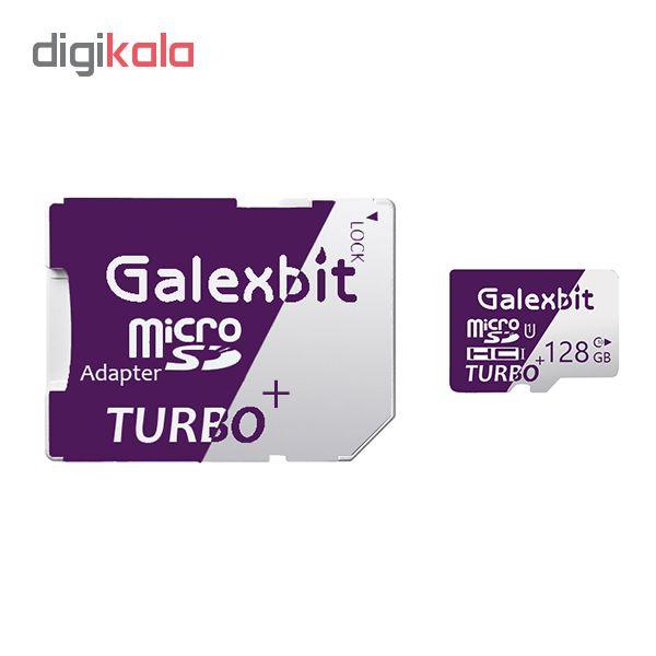 کارت حافظه microSDHC گلکسبیت مدل Turbo+ کلاس 10 استاندارد UHS-I U1 سرعت 80MBps ظرفیت 128 گیگابایت به همراه آداپتور SD