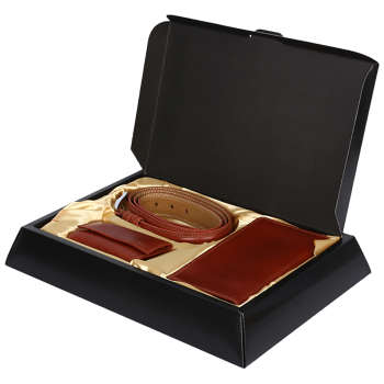 ست هدیه رویال چرم کد 120-SL1-Brown