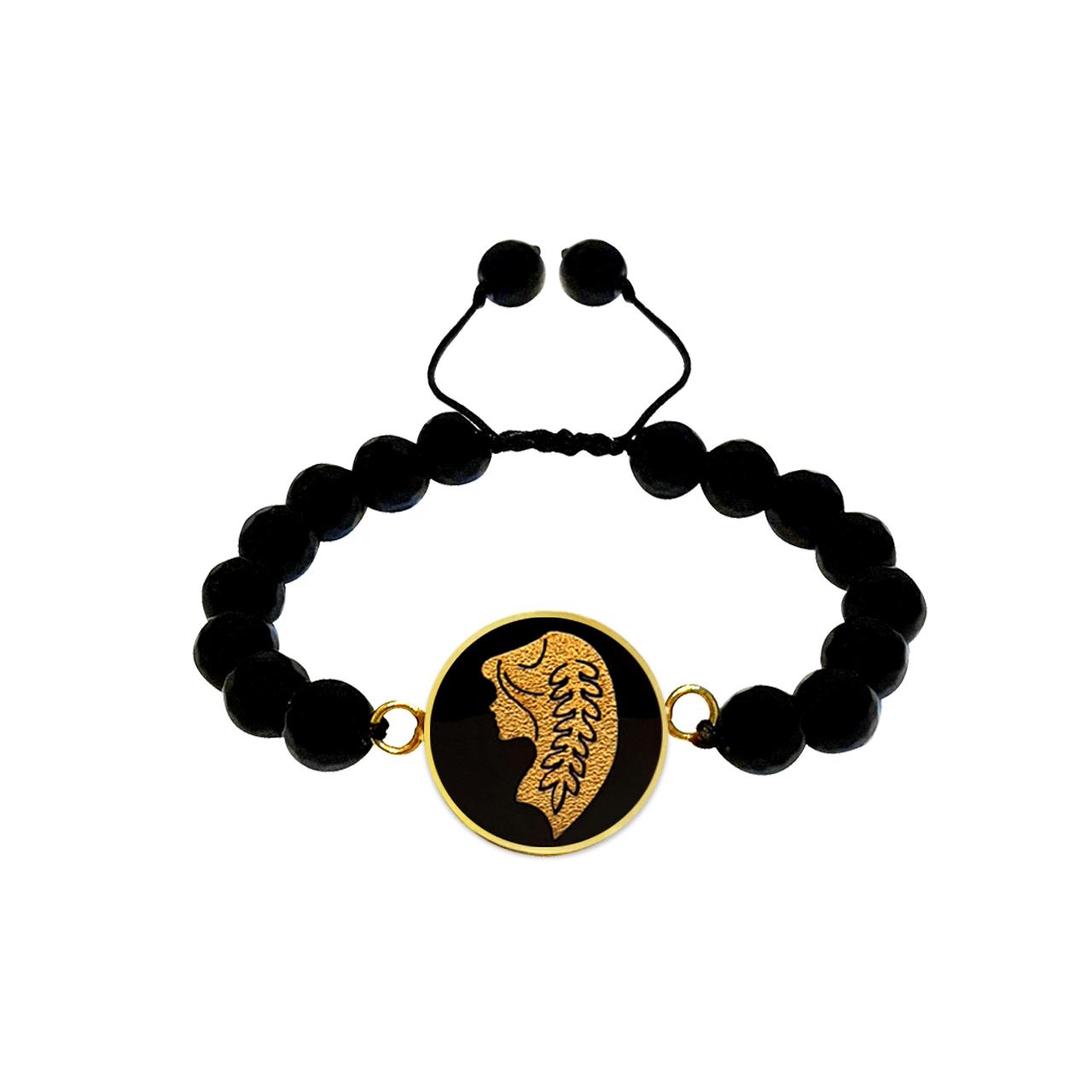 دستبند طلا  24 عیار مارک گلد طرح ماه شهریور