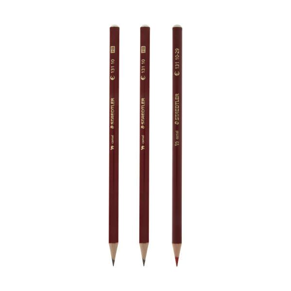 مداد مشکی و قرمز استدلر مدل Camel بسته 3 عددی