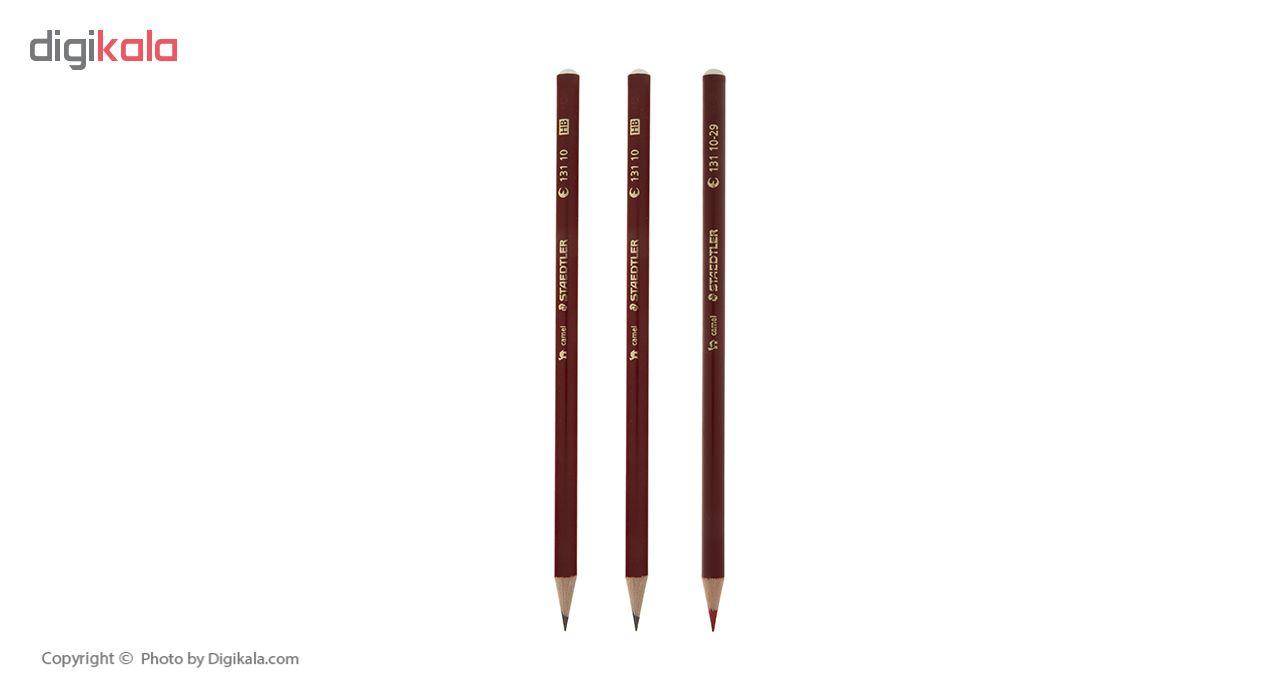 قیمت خرید مداد مشکی و قرمز استدلر مدل Camel بسته 3 عددی اورجینال