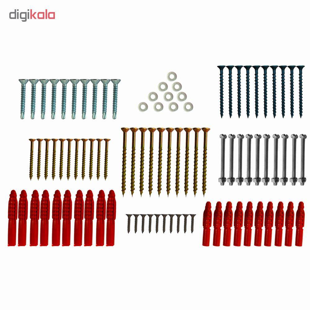مجموعه 90 عددی پیچ و رولپلاک مهر مدل DDB-90 به همراه جعبه نظم دهنده پیچ و مهره main 1 1