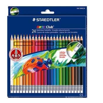 مداد رنگی 24 رنگ استدلر مدل Noris Club Erasable