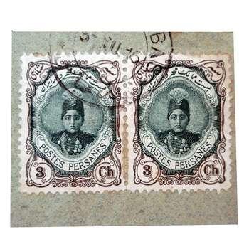 تمبر یادگاری سری قاجار مدل احمدی کد PAK200 مجموعه 2 عددی