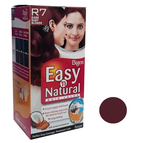 کیت رنگ مو بیگن سری Easy Natural شماره R7 حجم 75 میلی لیتر رنگ بلوند شرابی تیره