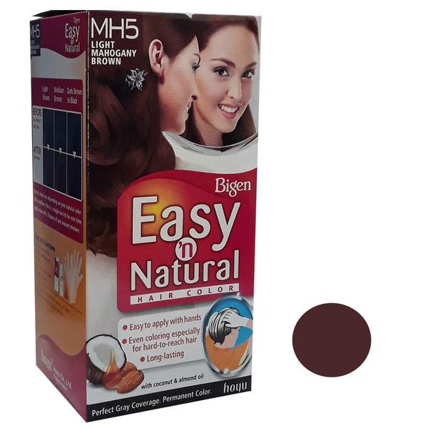 کیت رنگ مو بیگن سری Easy Natural شماره MH5 حجم 75 میلی لیتر رنگ قهواه ای ماهاگونی روشن