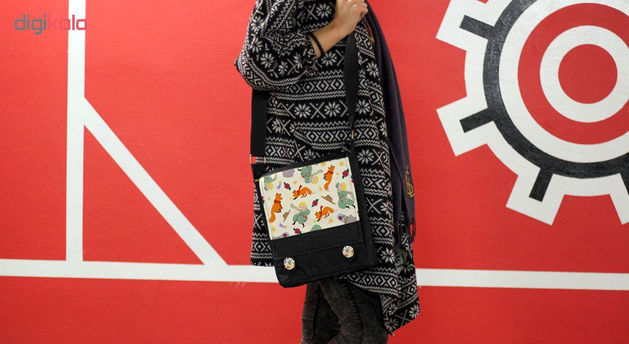 کیف دوشی زنانه گالری چی چاپ طرح شازده کوچولو کد 65879