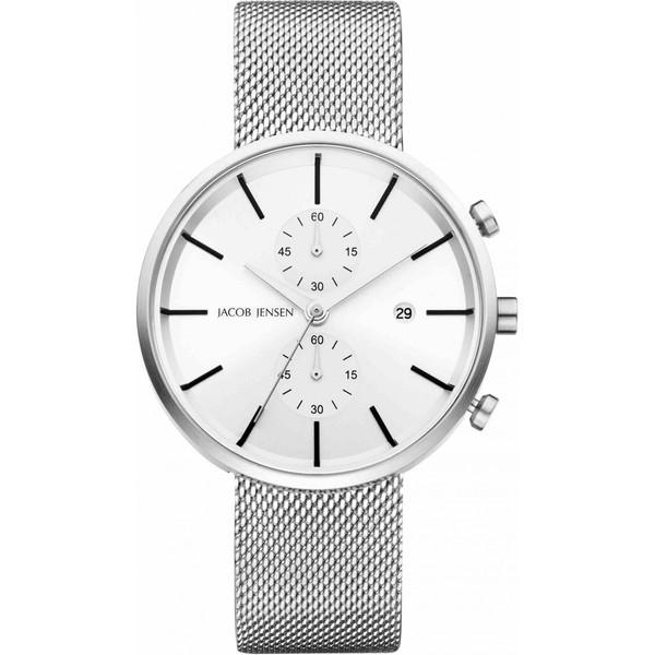 ساعت مچی  عقربه ای مردانه جیکوب جنسن مدل Linear 625