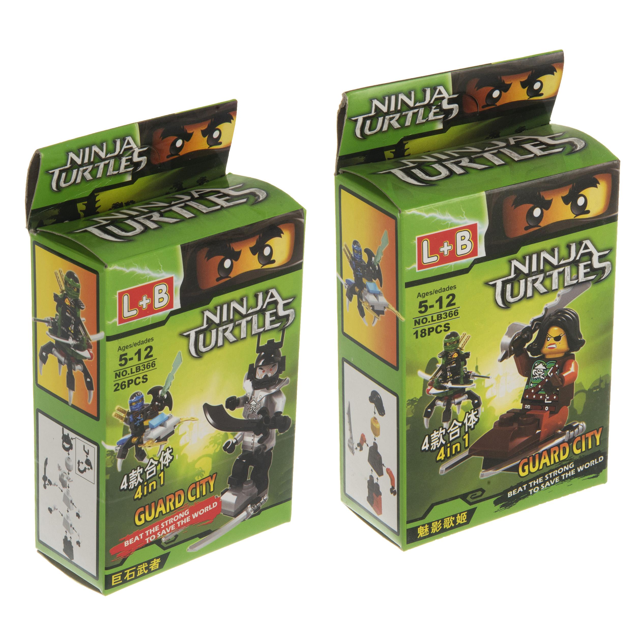 ساختنی طرح لاکپشت های نینجا کد 5439 مجموعه دو عددی