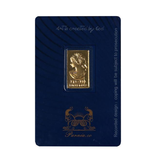طلا گرمی 24 عیار پرنیا مدل ونوس کد 01