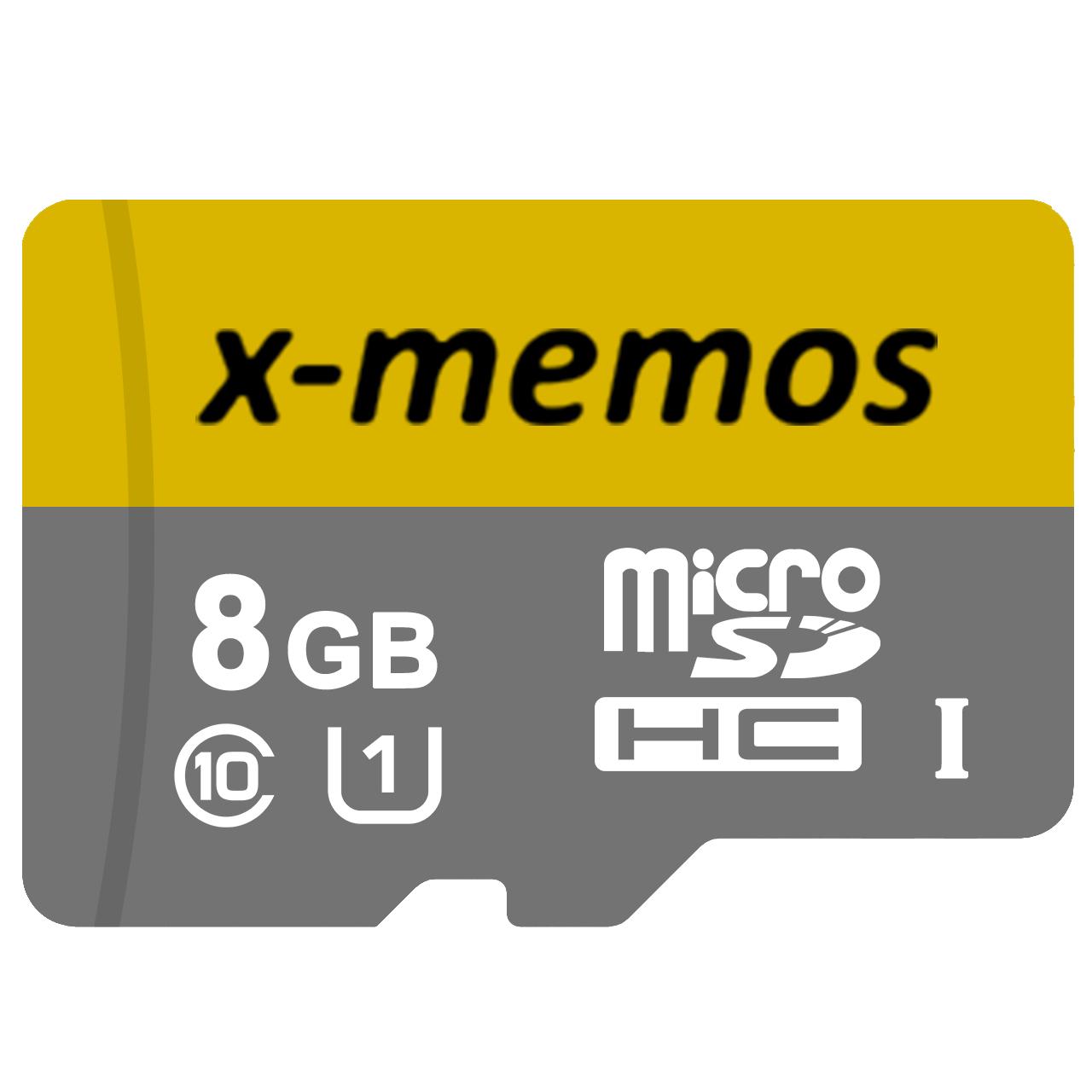 کارت حافظه microSDHC ایکس-مموس کلاس 10 استاندارد UHS-I U1 سرعت 30MBps ظرفیت 8 گیگابایت