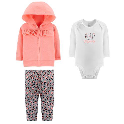 ست 3 تکه لباس نوزادی دخترانه کارترز کد 984