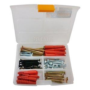 مجموعه 90 عددی پیچ و رولپلاک مهر مدل DDB-90 به همراه جعبه نظم دهنده پیچ و مهره