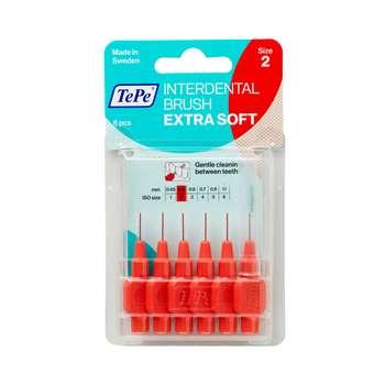 مسواک بین دندانی تهپه مدل Extra Soft سایز 2  بسته 6 عددی