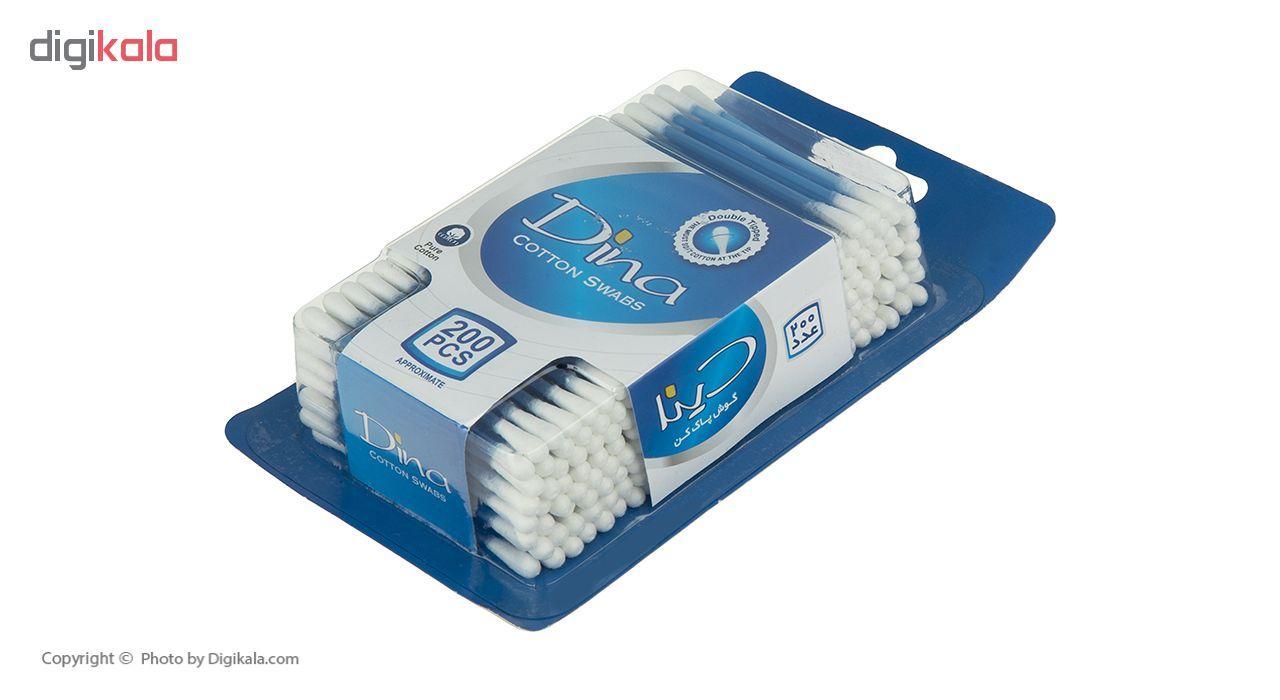 گوش پاک کن دینا مدل Blue بسته 200 عددی main 1 2