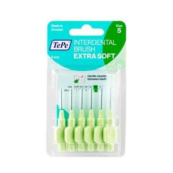 مسواک بین دندانی تهپه مدل Extra Soft سایز 5  بسته 6 عددی