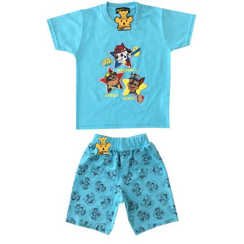 ست تی شرت و شلوارک پسرانه خرس کوچولو طرح سگ نگهبان کد 03