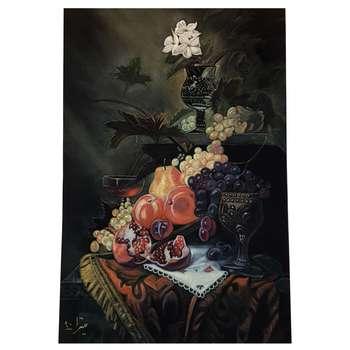 تابلو نقاشی رنگ روغن روی جیر بوم دیپ طرح میوه کد LTB-003