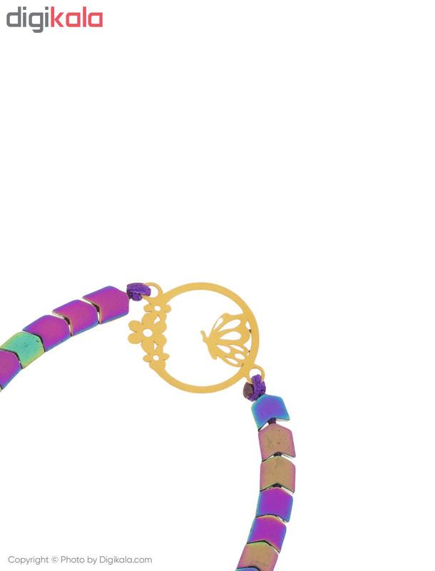 دستبند طلا 18 عیار زنانه میو استار مدل BS184