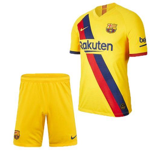 ست پیراهن و شورت ورزشی پسرانه طرح بارسلونا کد 2019 Y