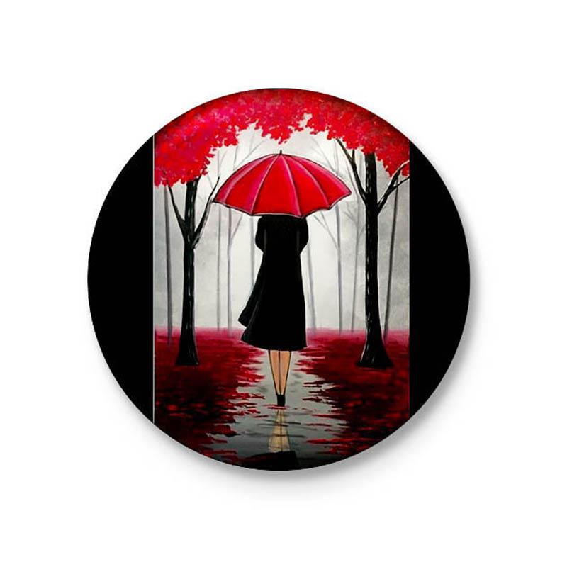 پیکسل طرح دختری در باران