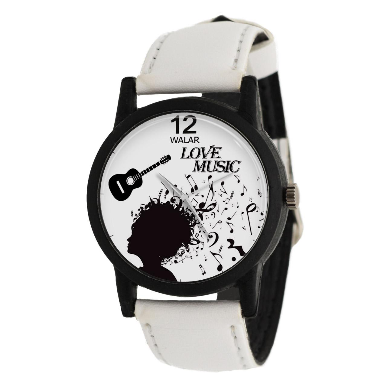کد تخفیف                                      ساعت مچی عقربه ای والار طرح موسیقی مدل LF1456