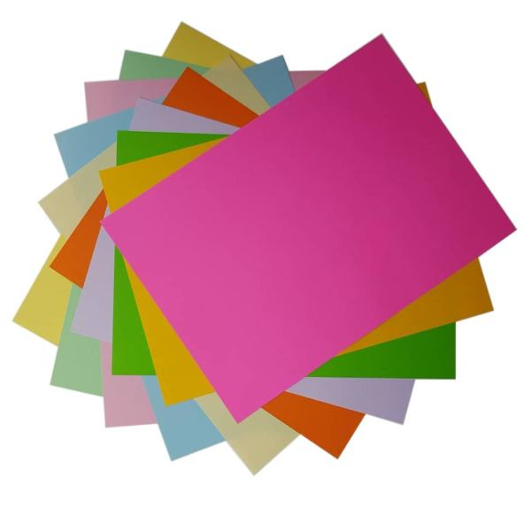 کاغذ رنگی A4 مدل رنگین کمان کد X10 بسته 100 عددی