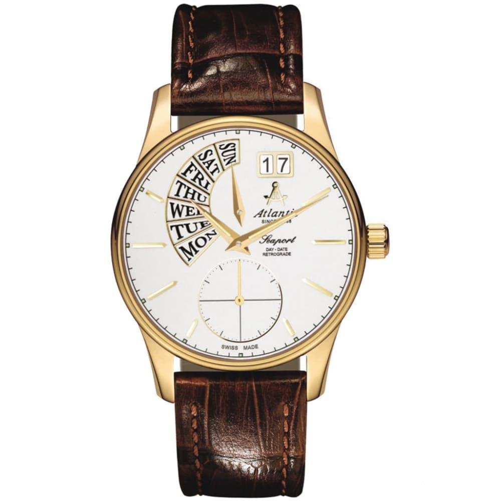 کد تخفیف                                      ساعت مچی عقربه ای مردانه آتلانتیک کد AC-56351.45.21