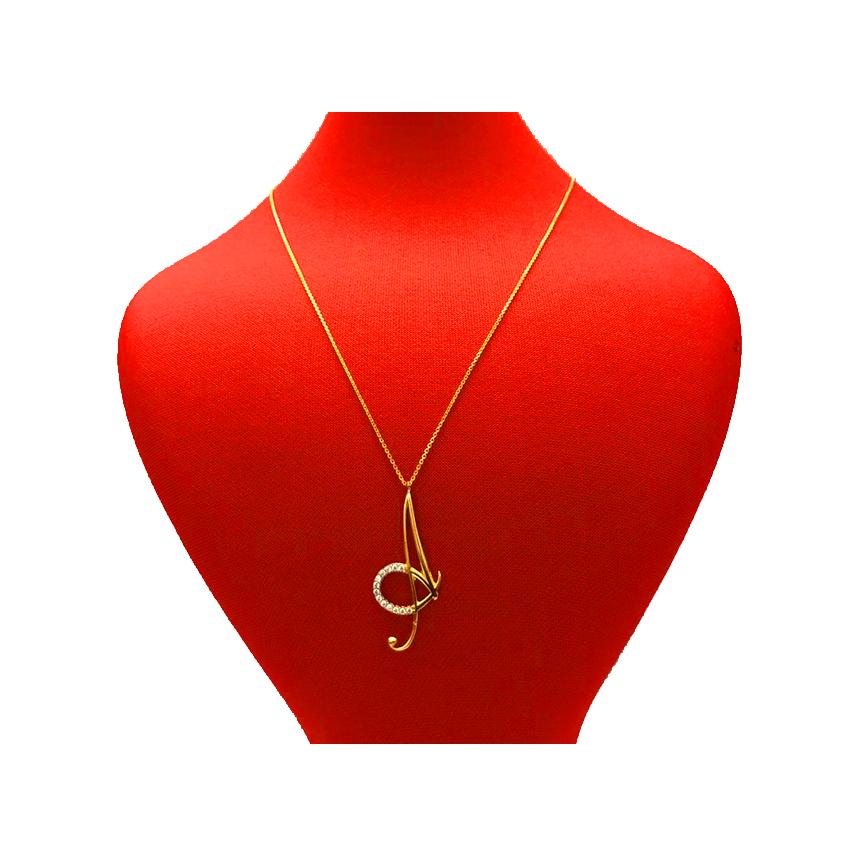 گردنبند طلا 18 عیار زنانه طرح A کد 141