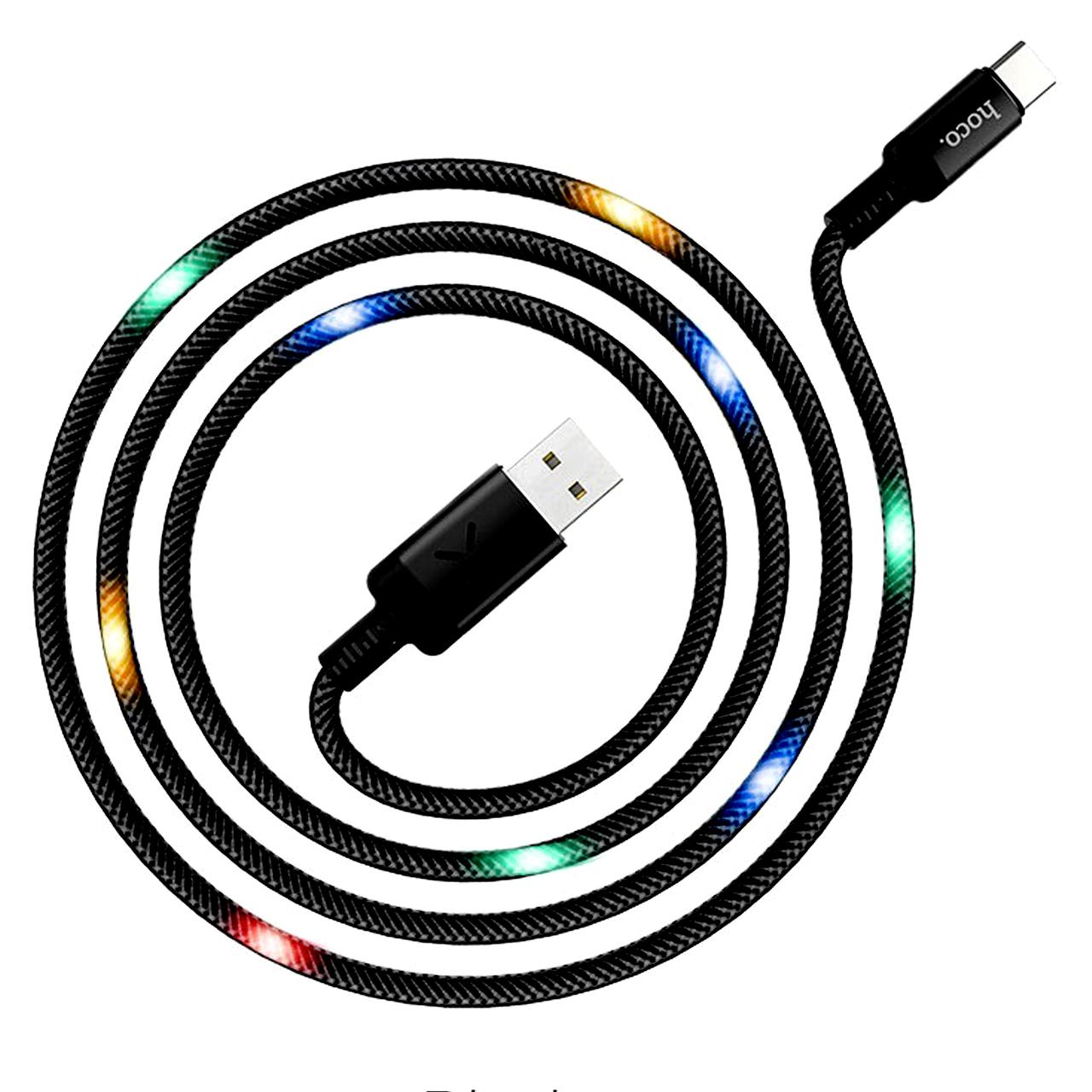 کابل تبدیل USB به USB-C هوکو مدل U63 طول 1.2 متر