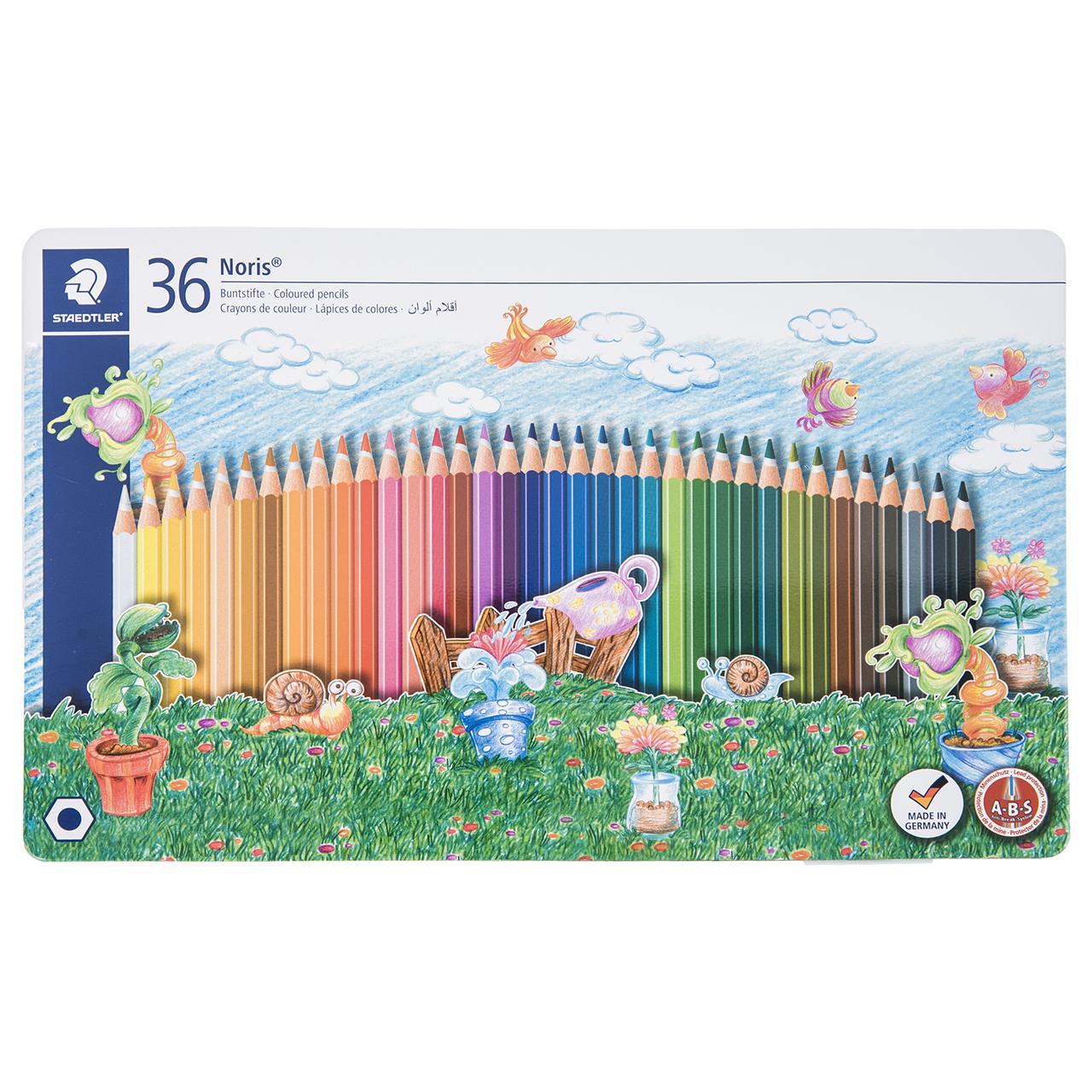 مداد رنگی 36 رنگ استدلر مدل Noris