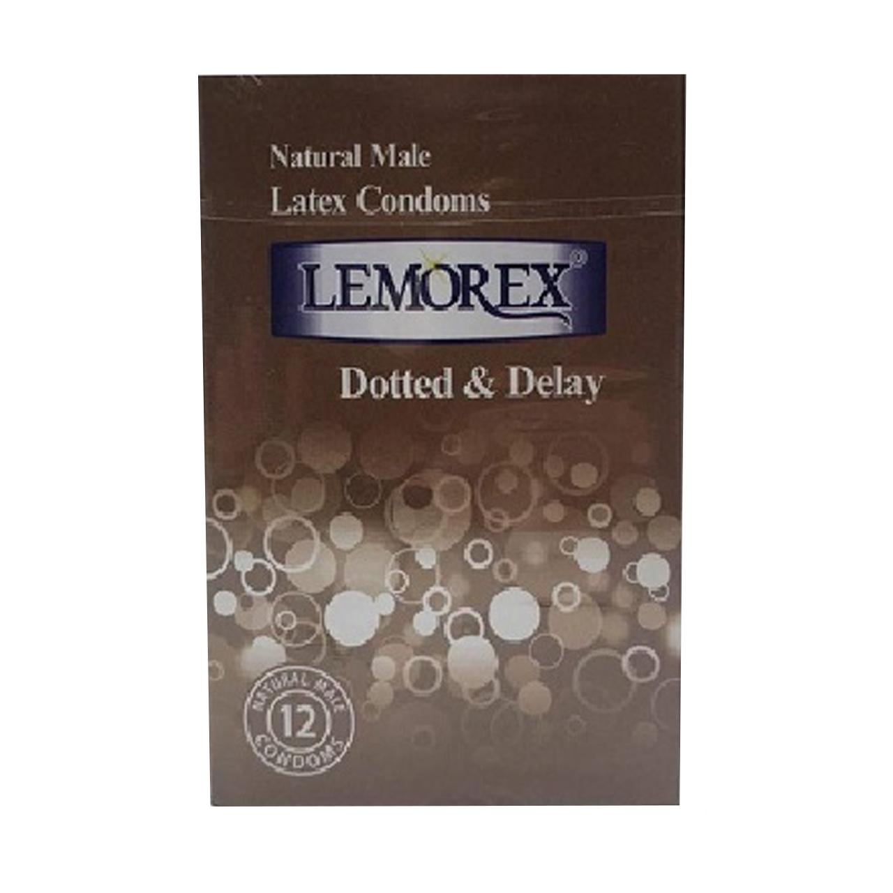 کاندوم لمورکس مدل Dotted & Delay بسته 12 عددی