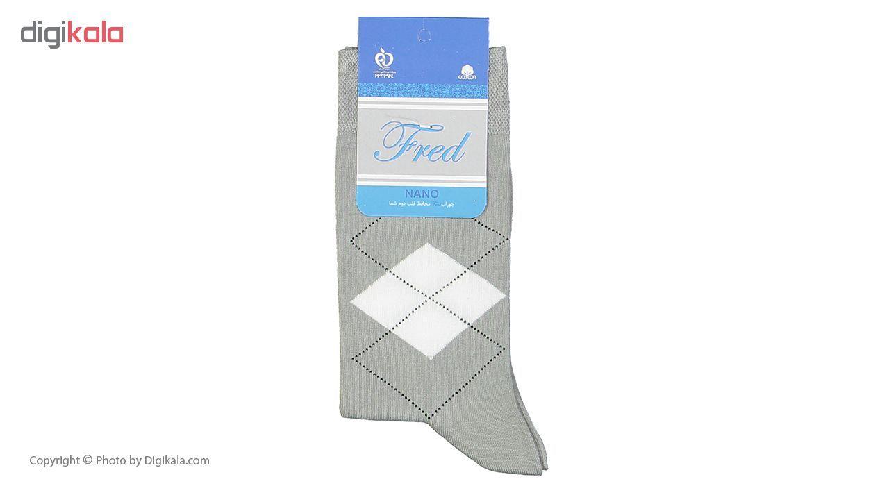 جوراب مردانه فرد مدل g.n.002 بسته 6 عددی main 1 2