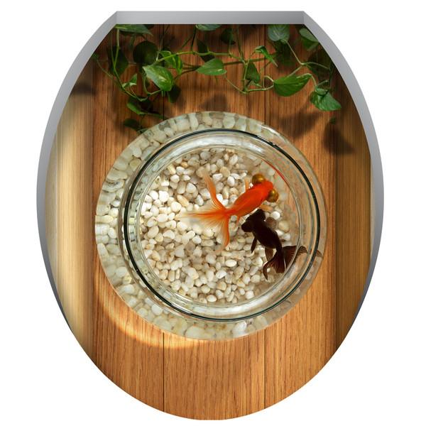 استیکر توالت فرنگی ژیوار طرح تنگ ماهی