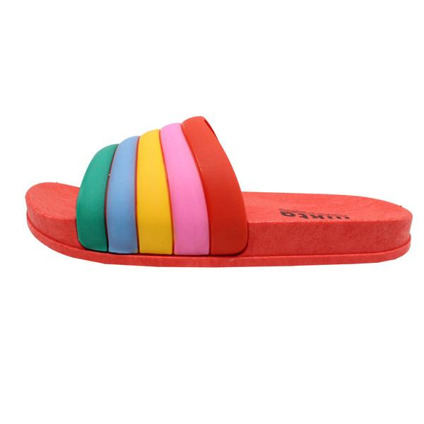 دمپایی دخترانه نیکتا طرح رنگین کمان کد K1-304-RD