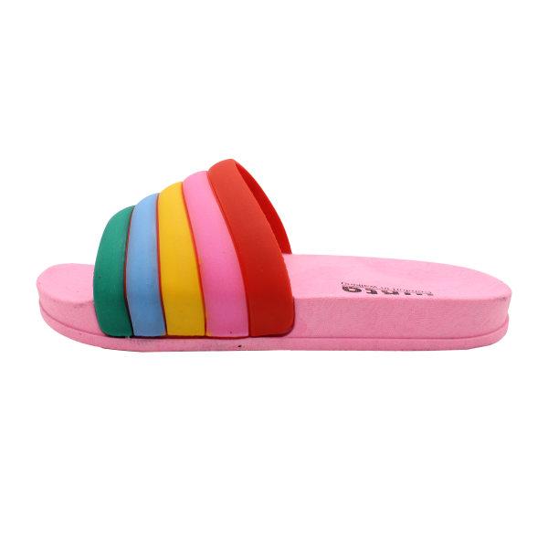 دمپایی دخترانه نیکتا طرح رنگین کمان کد K1-304-PK