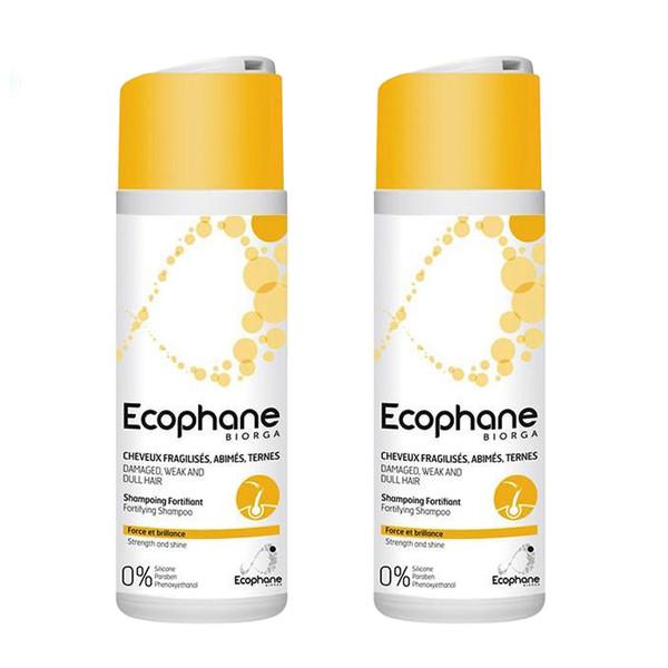 شامپو مو بایورگا سری Ecophane مدل Fortifying حجم 200 میلی لیتر مجموعه 2 عددی