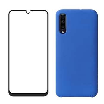 کاور مدل bjn مناسب برای گوشی موبایل سامسونگ Galaxy A50 به همراه محافظ صفحه نمایش