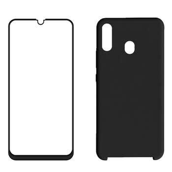 کاور مدل bjn مناسب برای گوشی موبایل سامسونگ Galaxy m20 به همراه محافظ صفحه نمایش